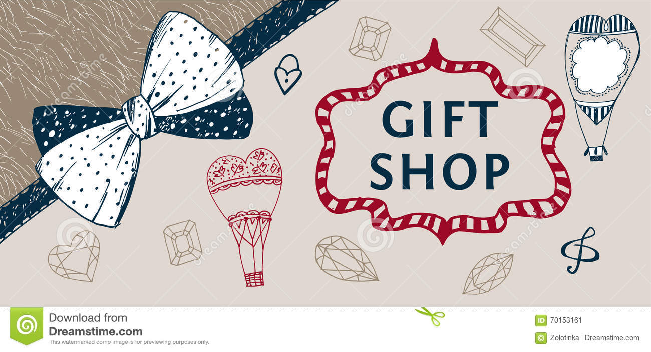Banner For Gift Shop Unusual Ideas Presents Store Stock