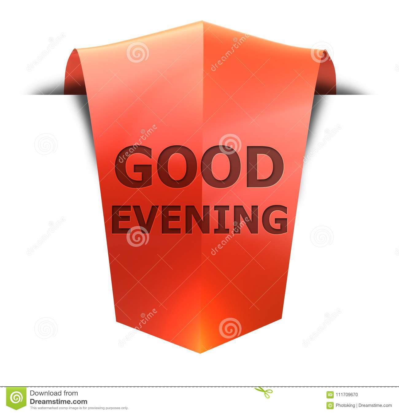 Banner Good Evening Stock Illustration Illustration Of Exclamation