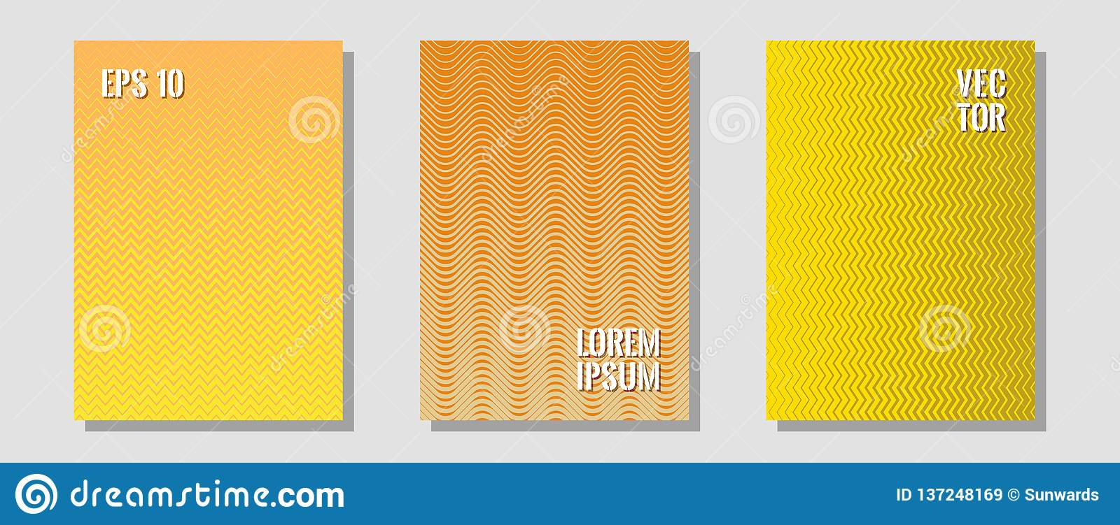 Banner graphics cool vector templates set.