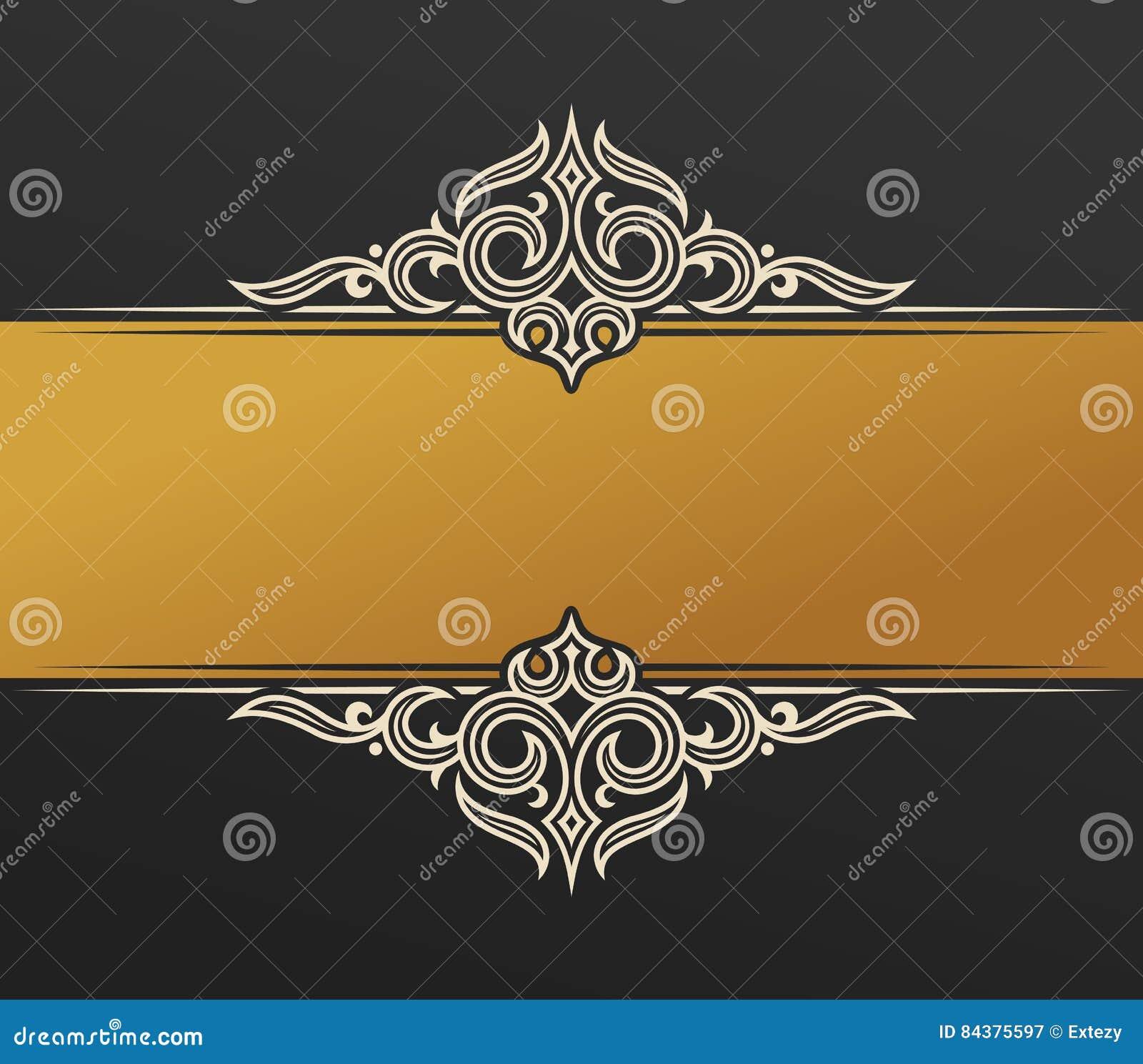 banner islam ethnic design  gold invitation vintage label