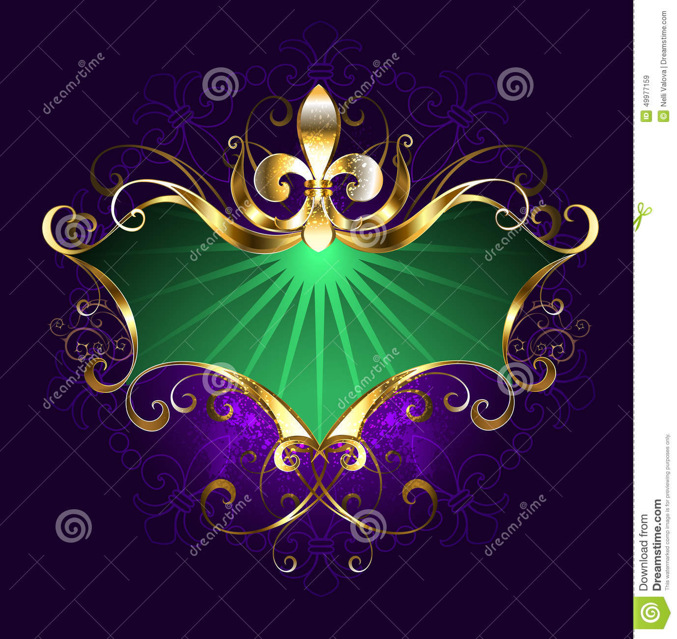 banner mardi gras stock vector image 49977159. Black Bedroom Furniture Sets. Home Design Ideas