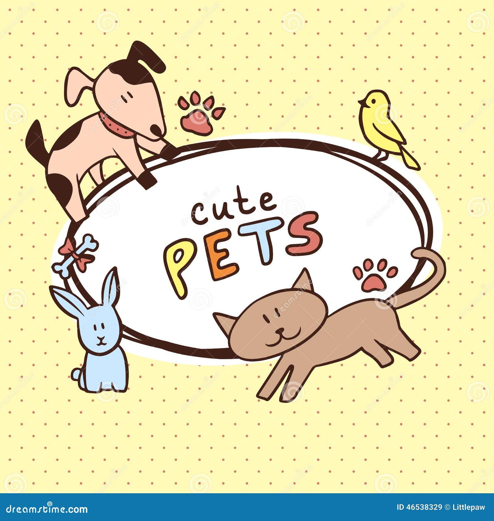 Banner met leuke huisdieren