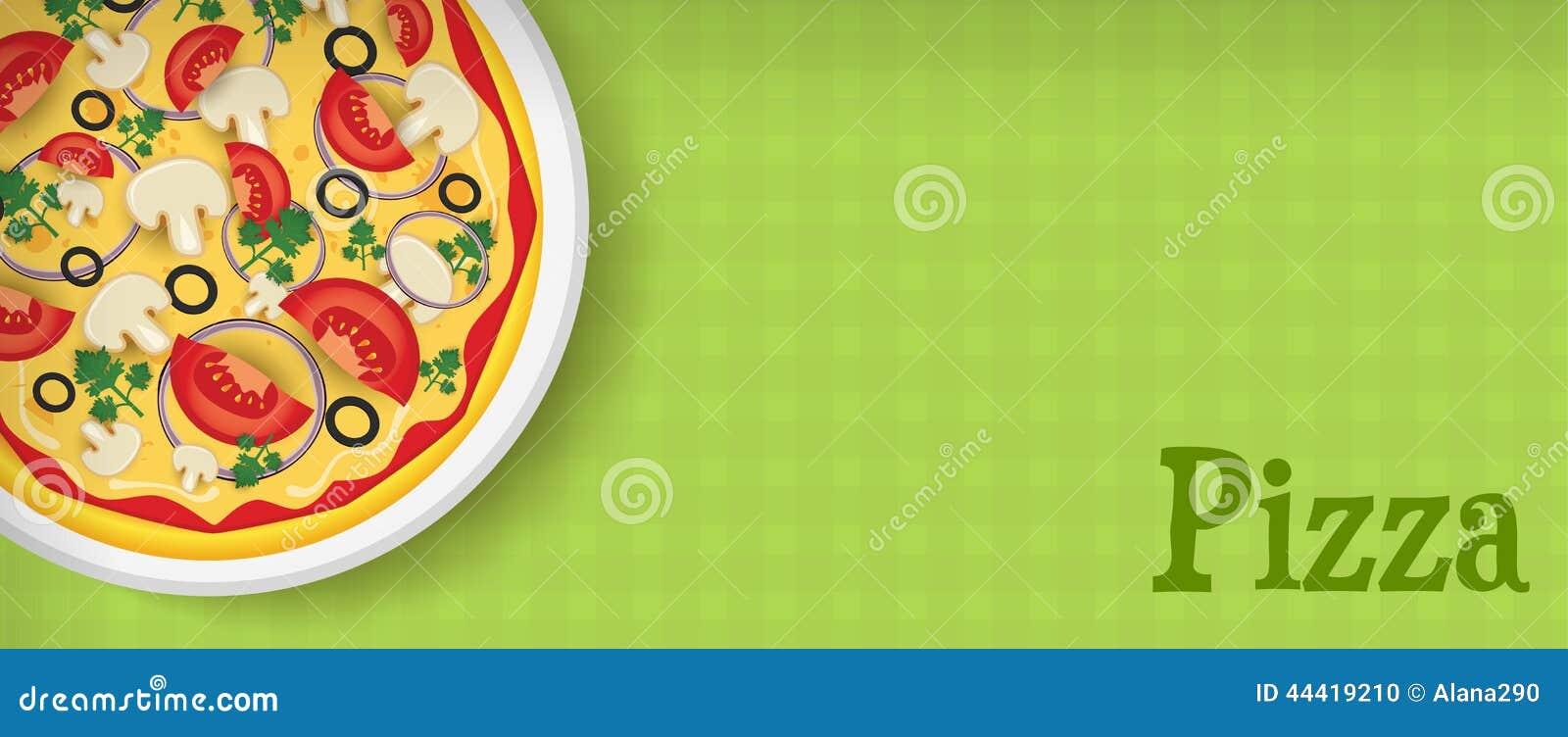 Banner met pizza