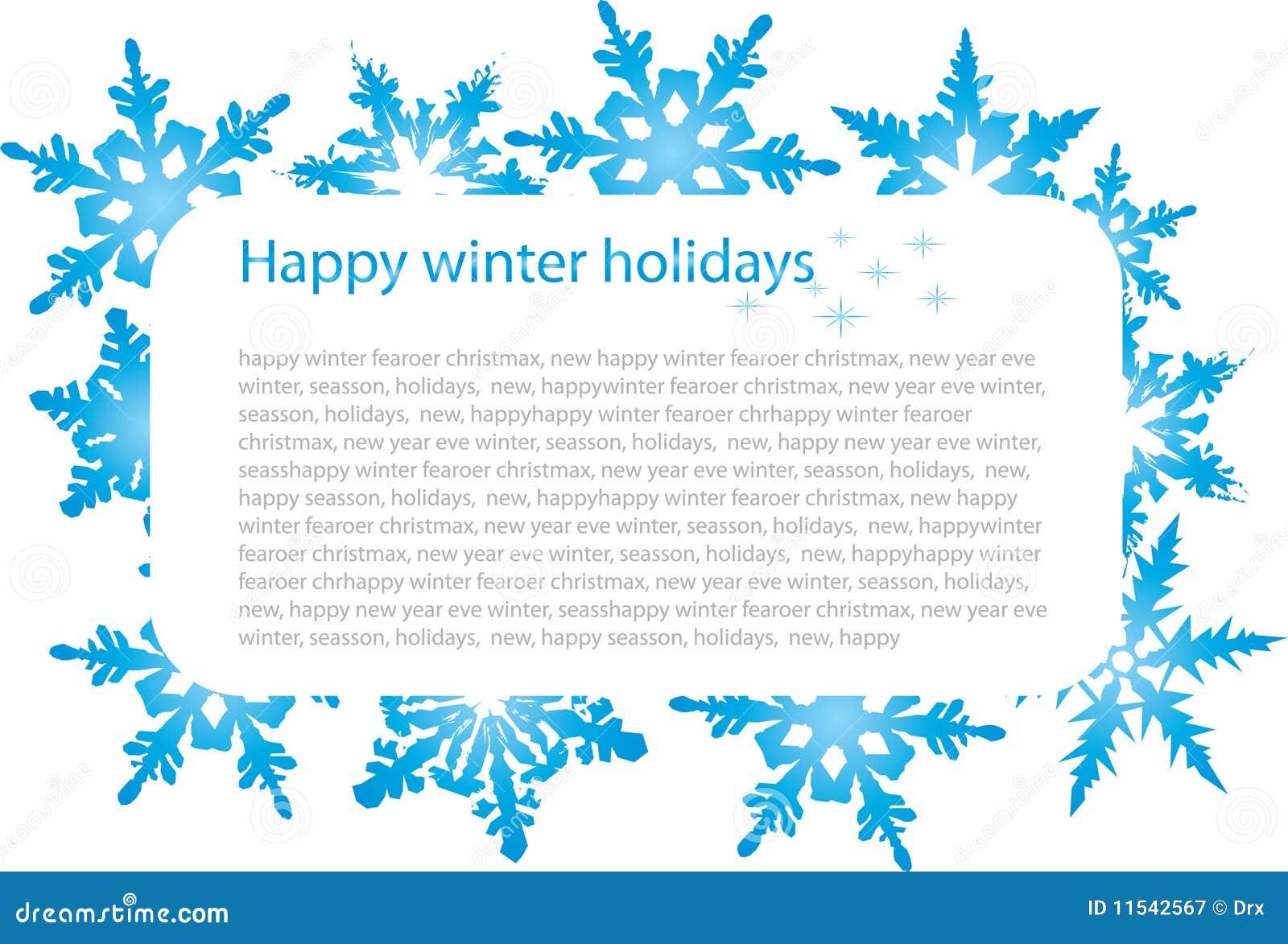 Banner met sneeuwvlokken