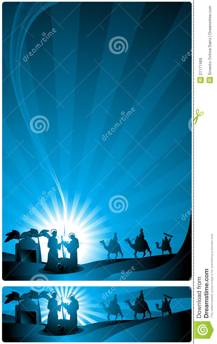 Banner Nativity Scene Royalty Free Stock Images Image