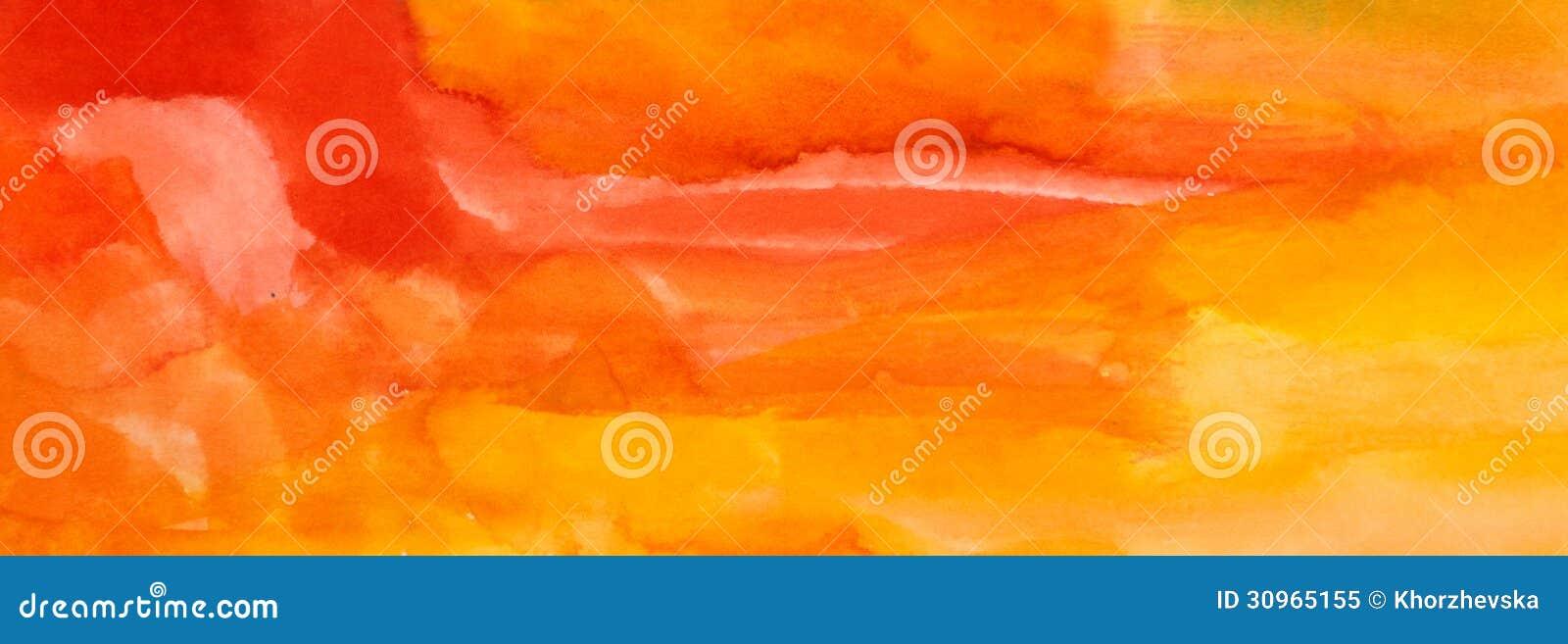 Banner Orange Background Childish Art Drawing Royalty Free Stock Photo ...