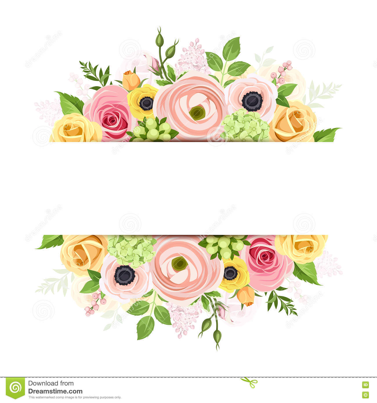 Banner with pink orange and yellow flowers vector background banner with pink orange and yellow flowers vector background mightylinksfo