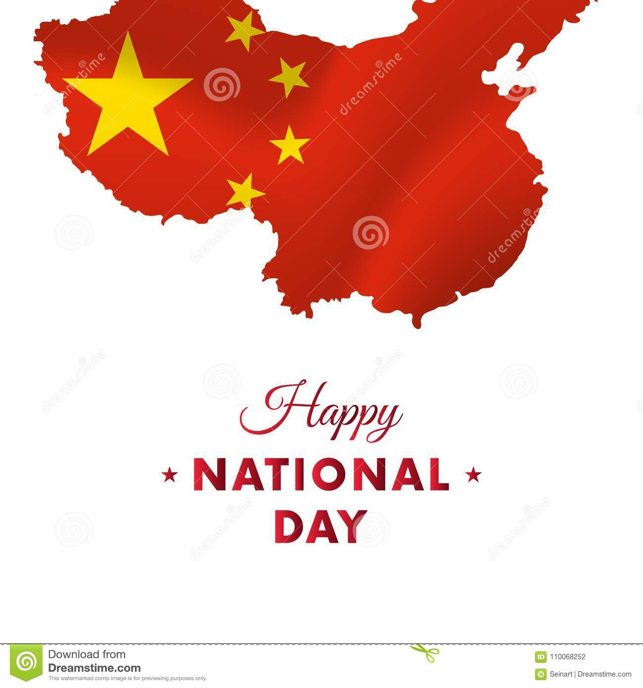 China Map Poster.Banner Or Poster Of China National Day Celebration China Map