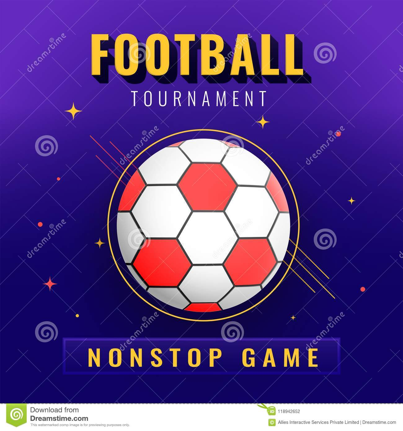 Banner Or Poster Design Football Tournament Text And Ball On Ab Stock Illustration Illustration Of Ball Abstract 118942652