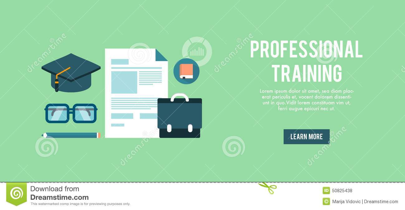 banner for professional training stock vector image
