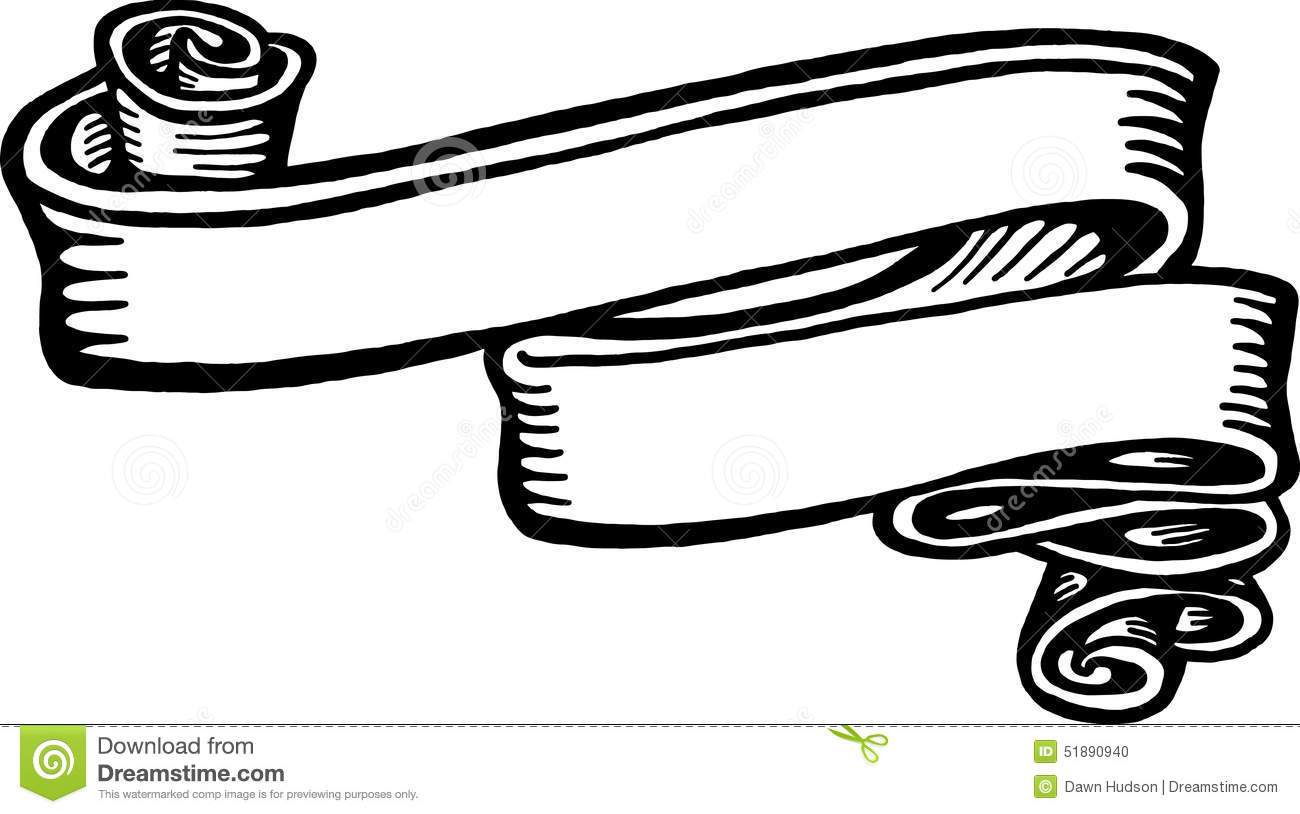 banner ribbon stock illustration illustration of sketch 51890940 rh dreamstime com