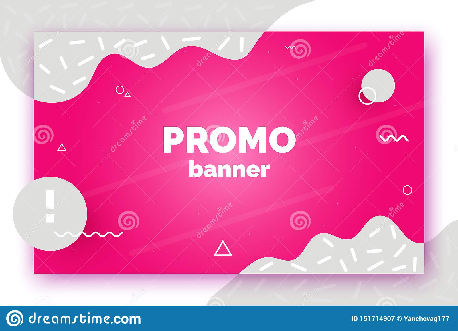 Banner for sale, offer, promotion, advertisement. Trendy vector background, flyer, poster, page, cover with abstract