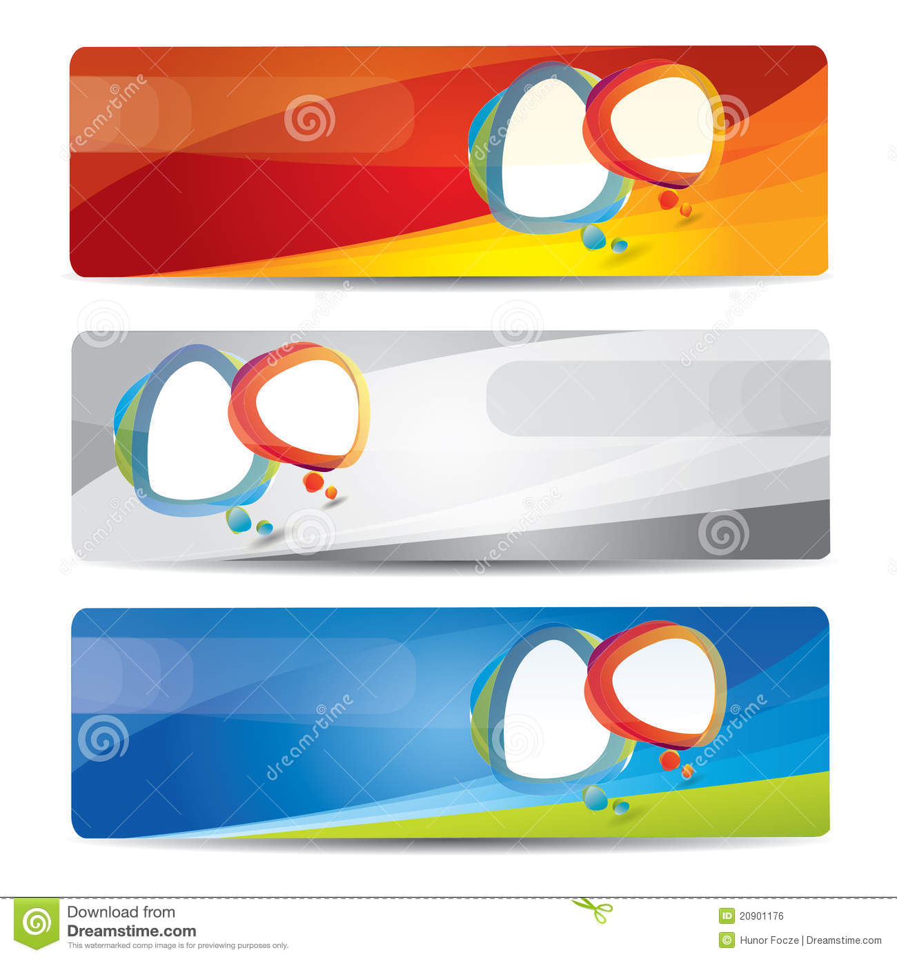 Design banner free download - Banner Set With Colorful Abstract Design Royalty Free Stock Image