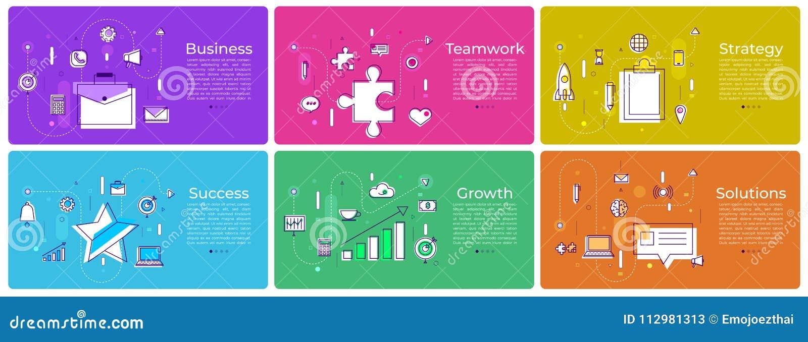 Banner set digital marketing