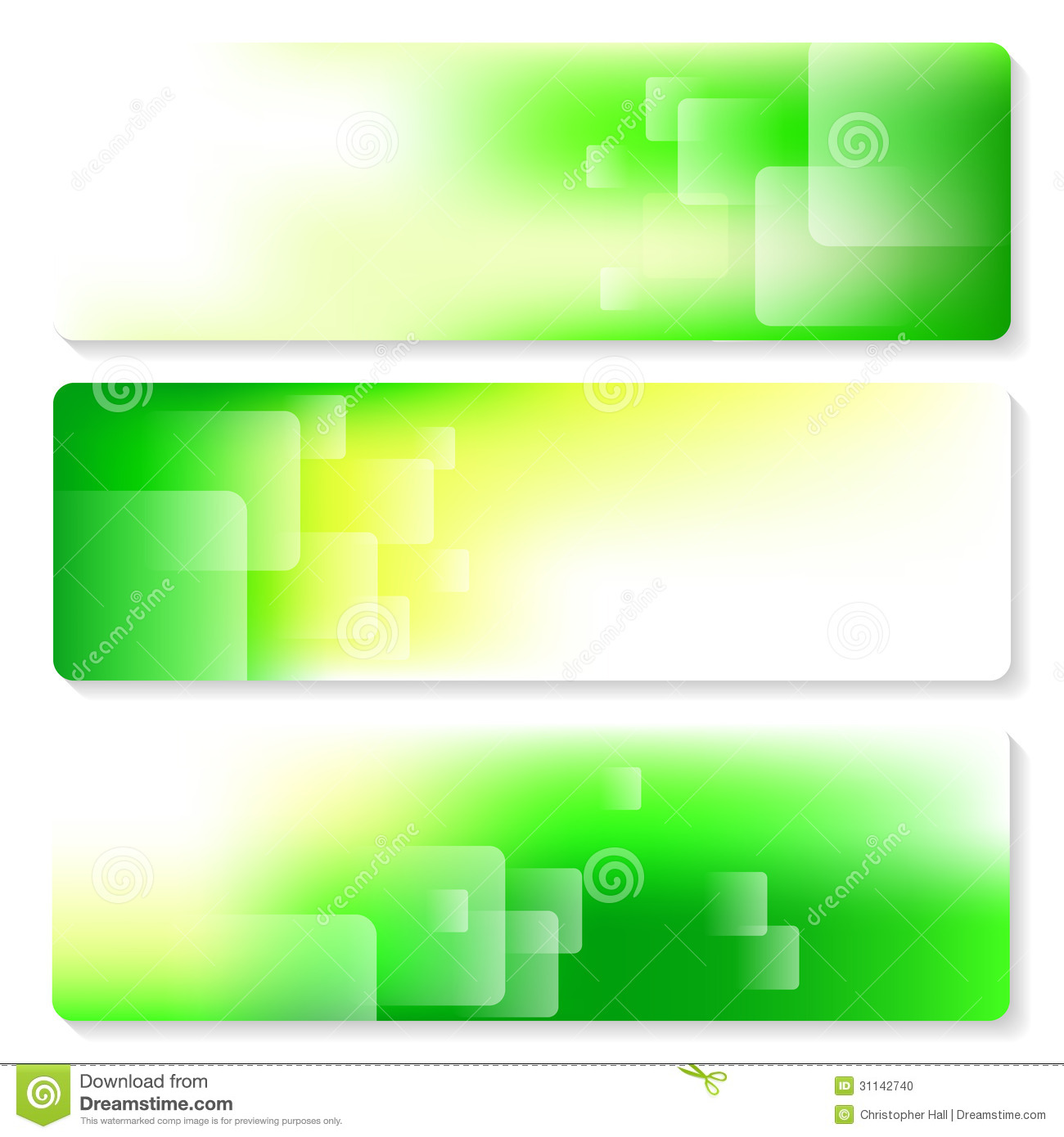 Banner Set Stock Photo Image 31142740