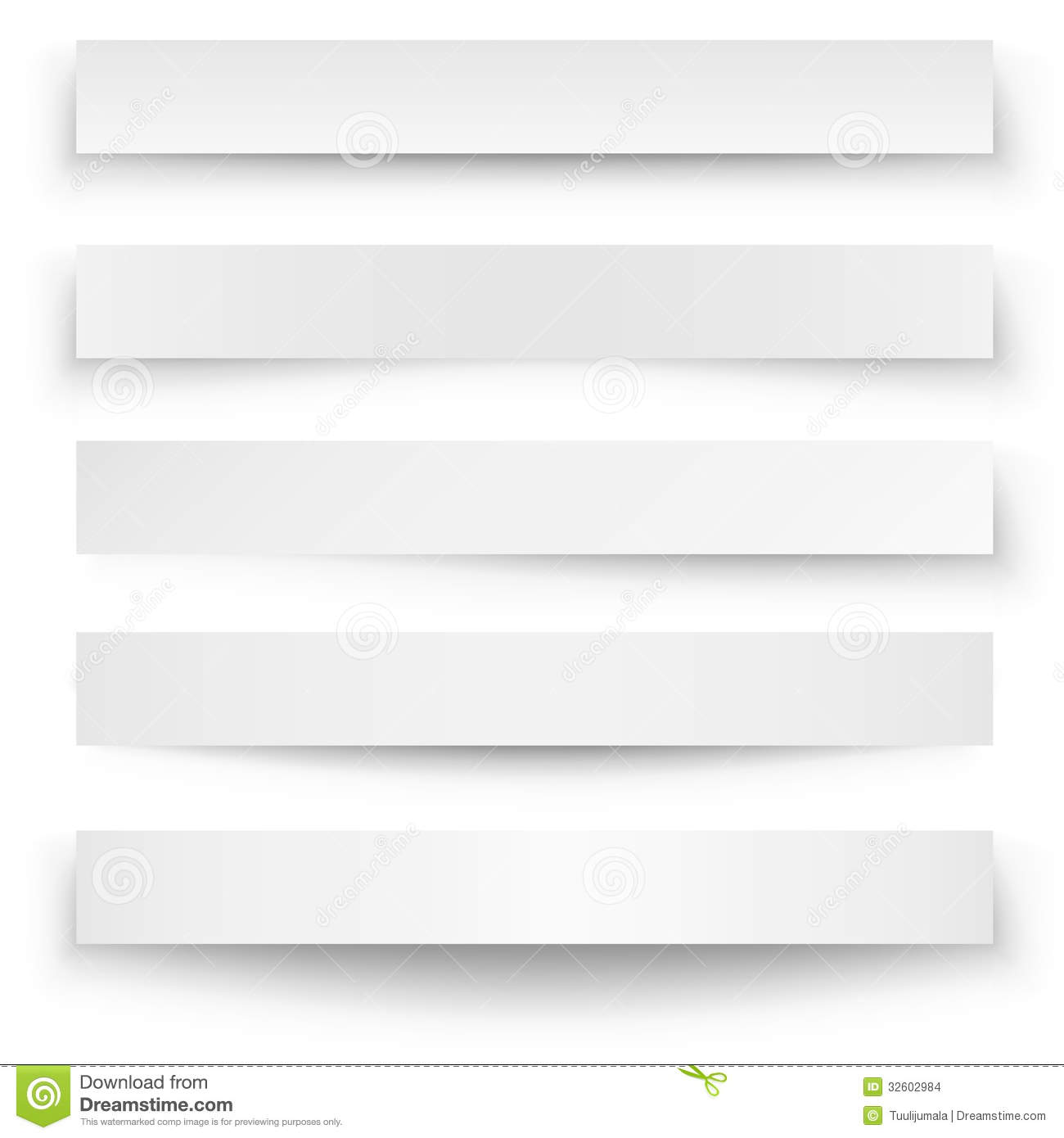Banner shadow template stock vector  Illustration of gray - 32602984