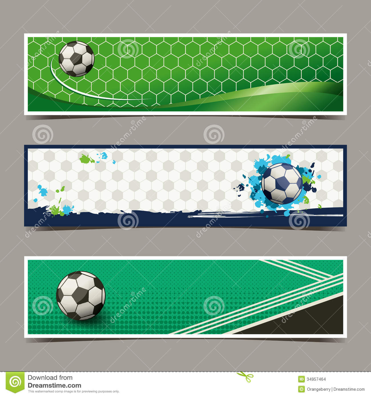 Banner Soccer Design Stock Images - Image: 34957464