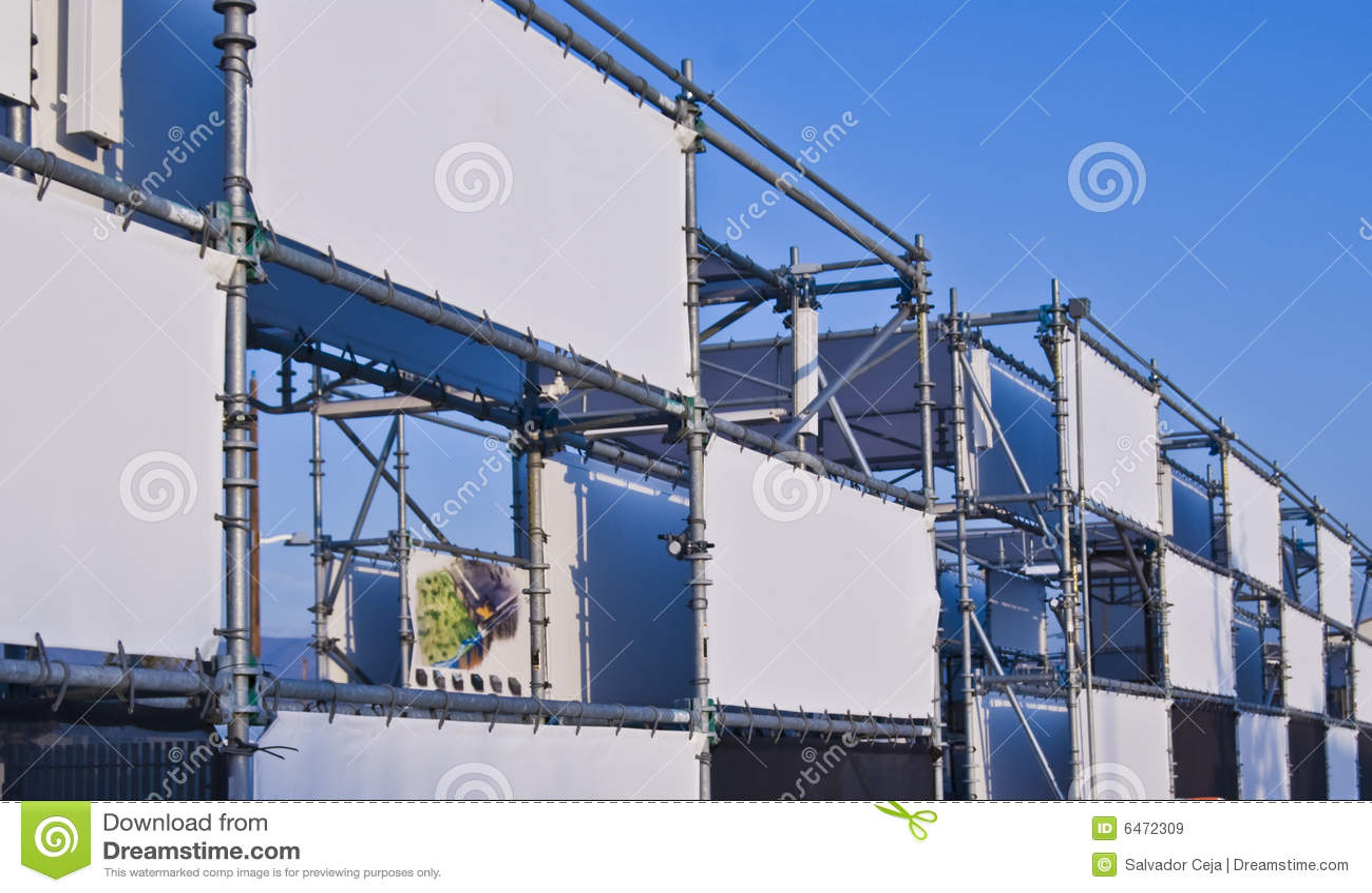 Banner stalowa konstrukcja