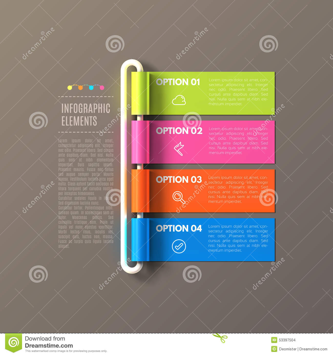 banner steps business infographic template stock vector