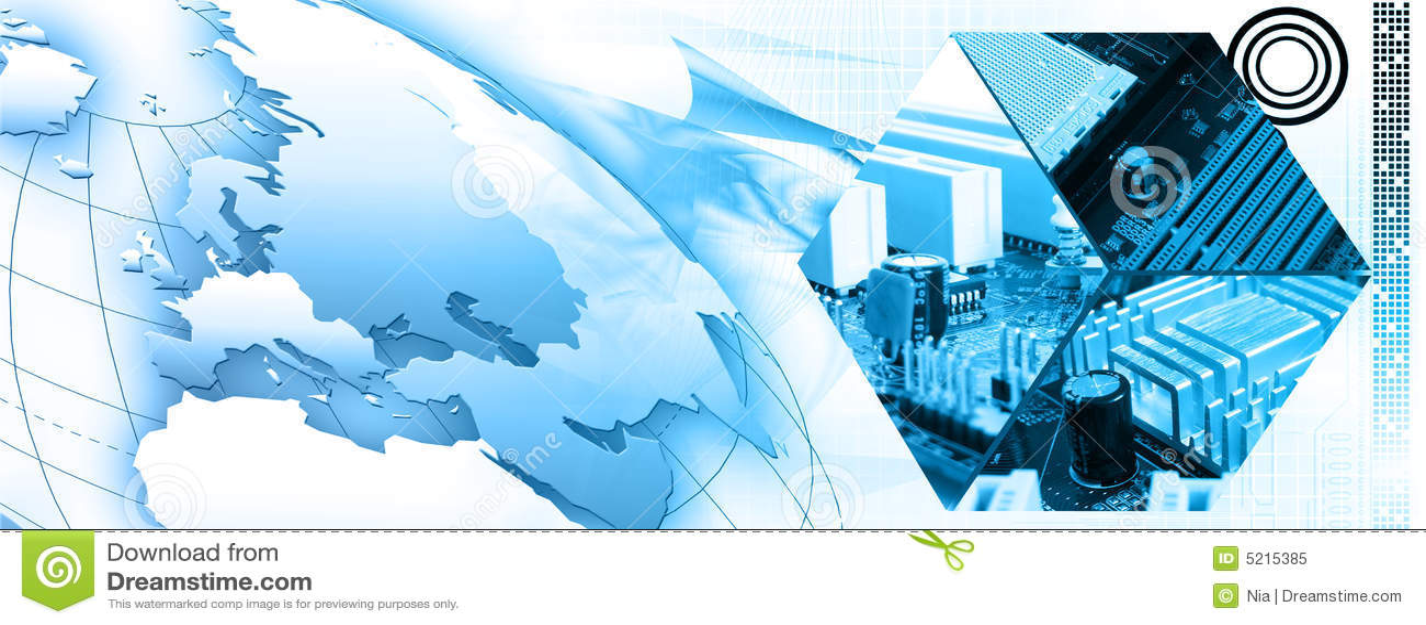 Banner technologii tło
