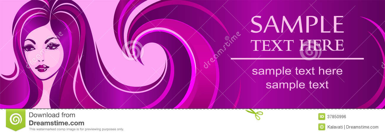 Banner Template For Beauty Salon Or Advertising Royalty Free Stock ...