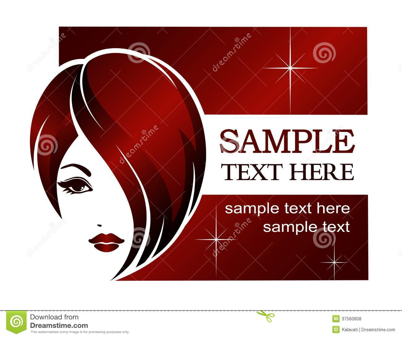 Template For Hair Salon Vector Illustration 60097690