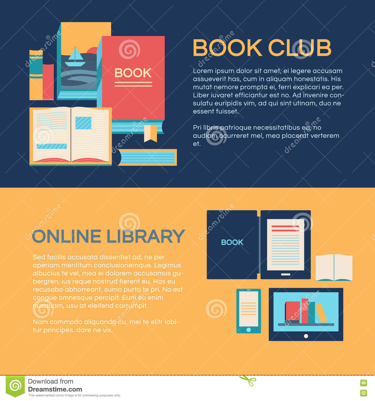 banner template with books stock illustration illustration of