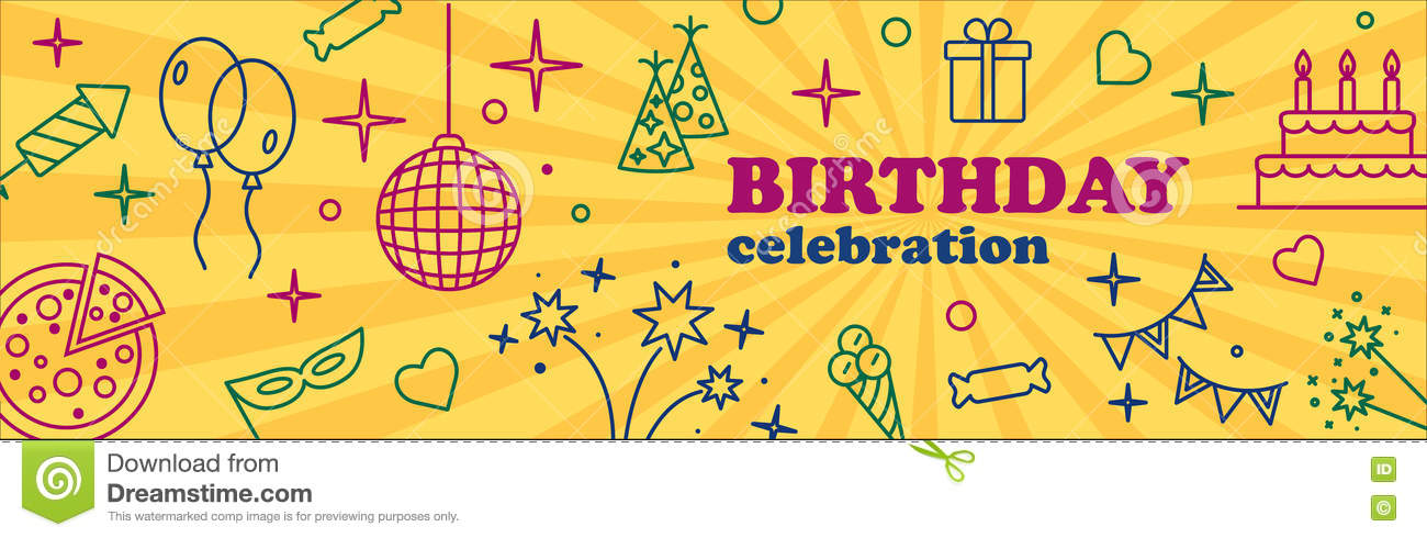 Banner Or Template Design For Musical Party Celebration Stock