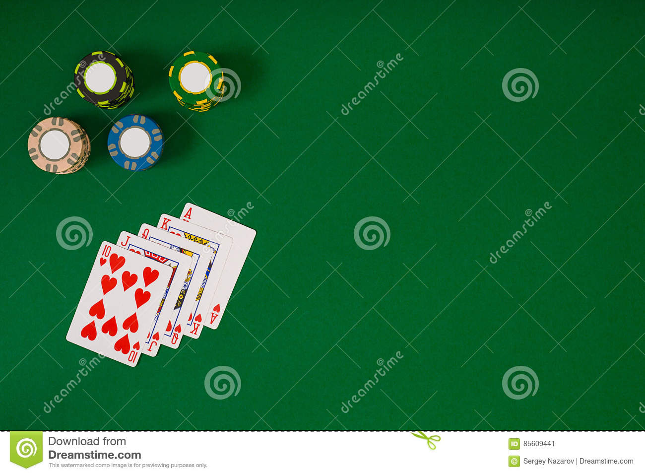 Blackjack table top view - Banner Template Layout Mockup For Online Casino Green Table Top View On Workplace