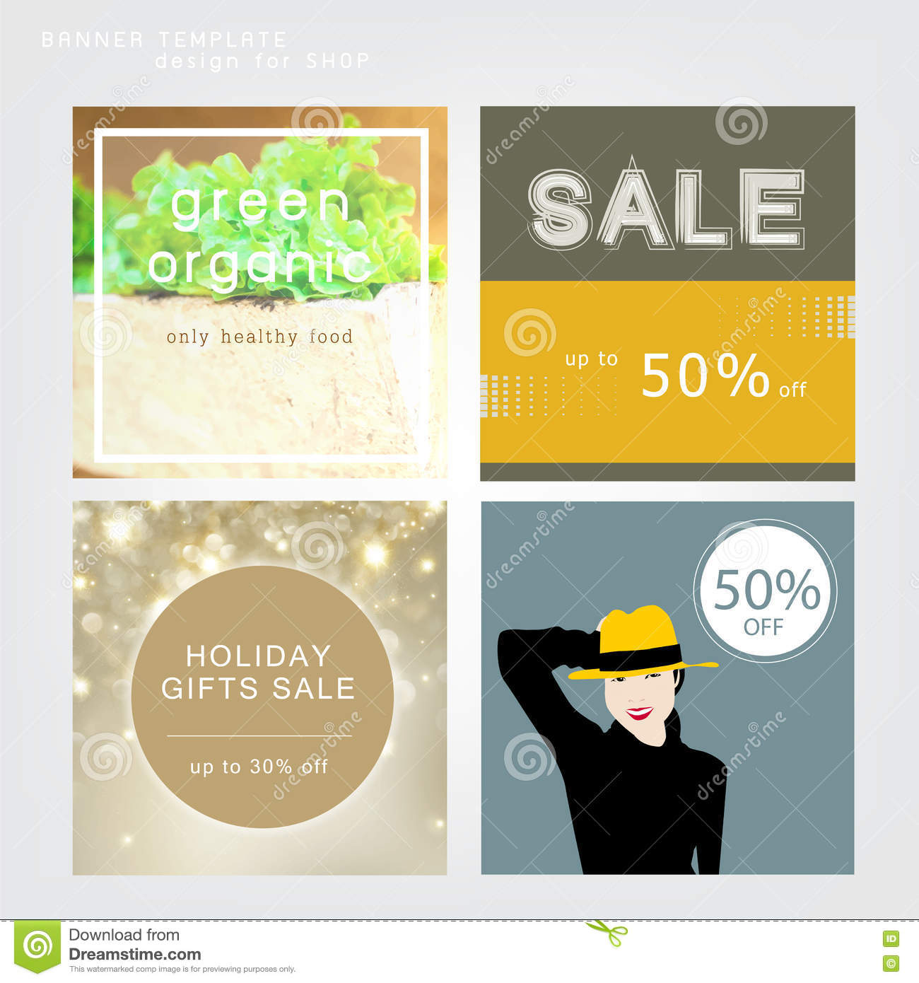 Banner template for shop sale season stock vector image Architecture firm for sale