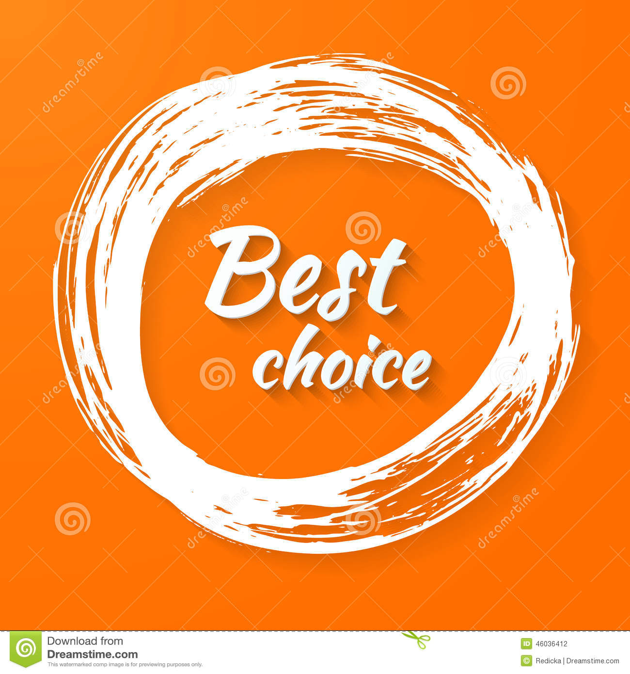 Banner with text best choice stock vector image