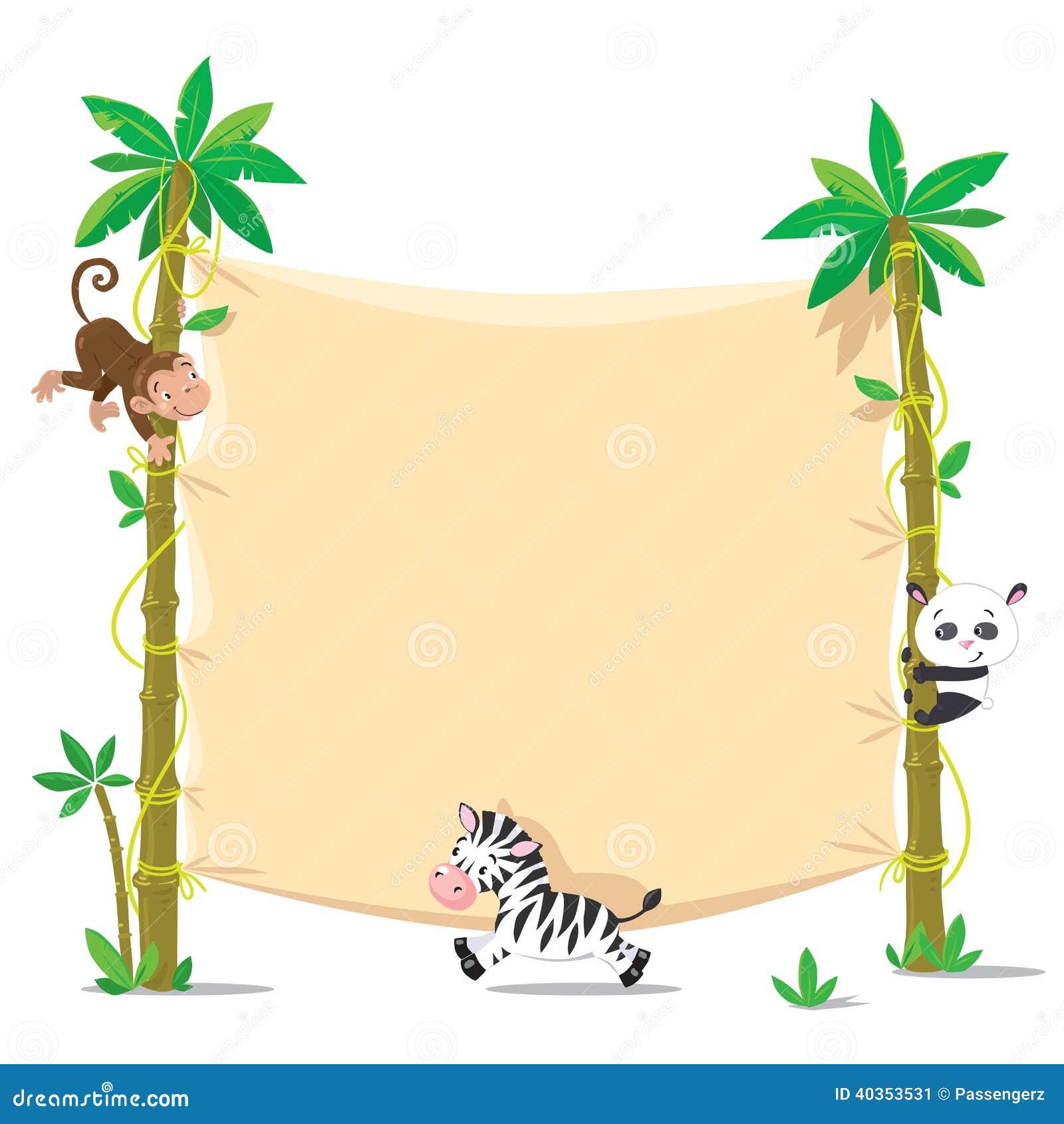 Zebra border clipart  Clipartix