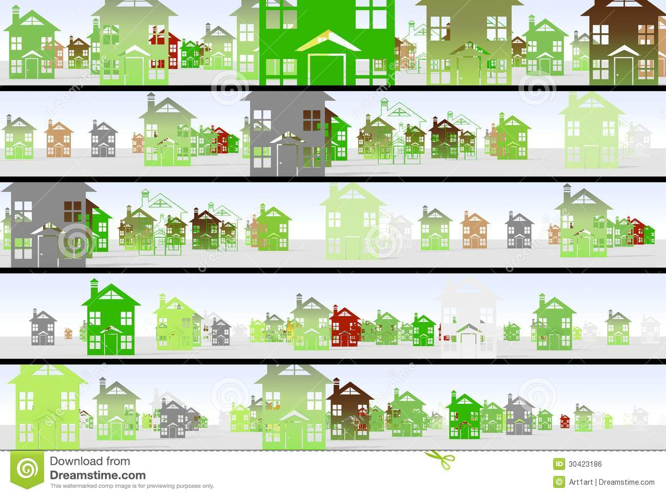 Page business style of the real estate market urban construction