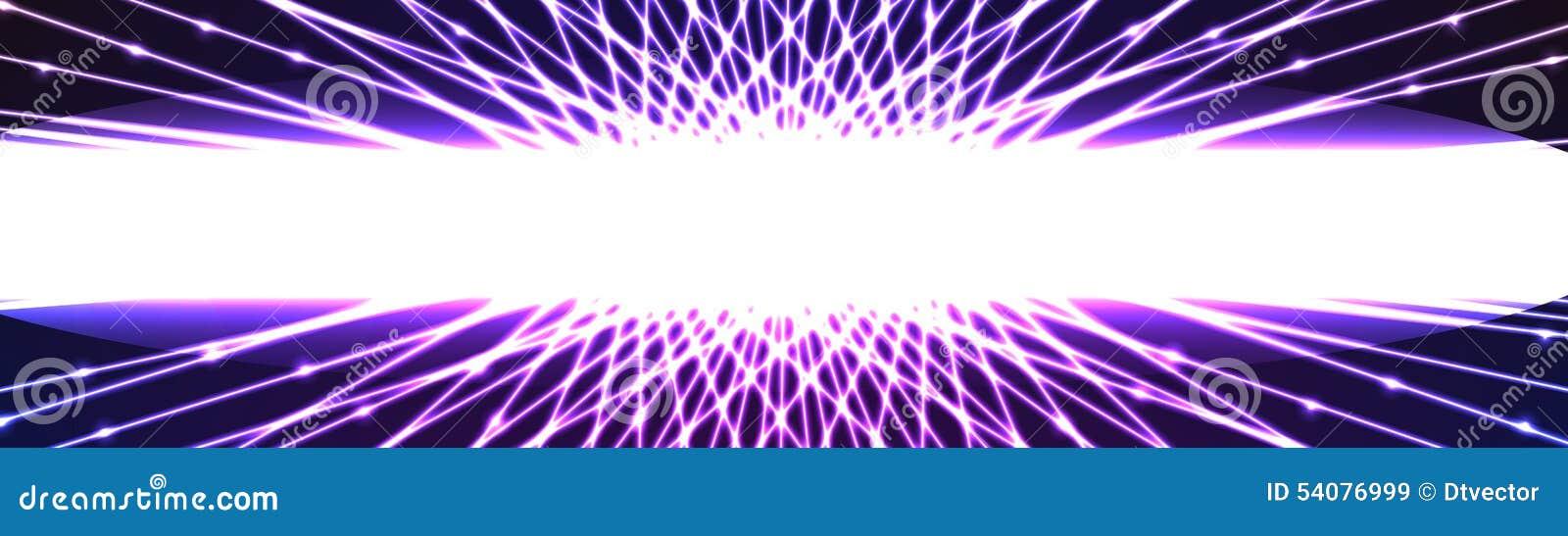 Banner van het centrum de witte lichteffect