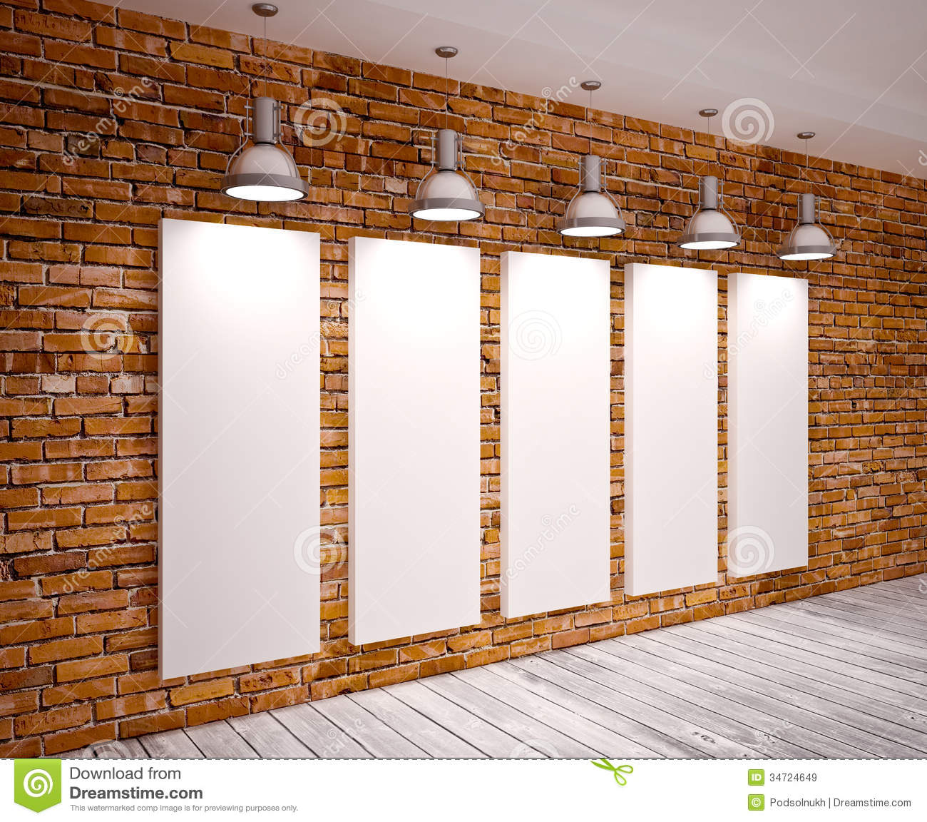 Banner On Wall Royalty Free Stock Images - Image: 34724649