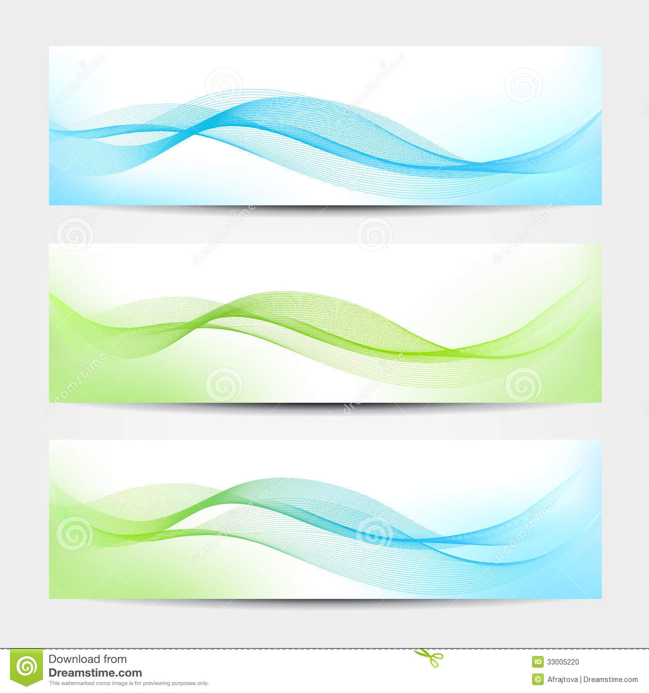 Banner Water Waves Stock Photo Image 33005220