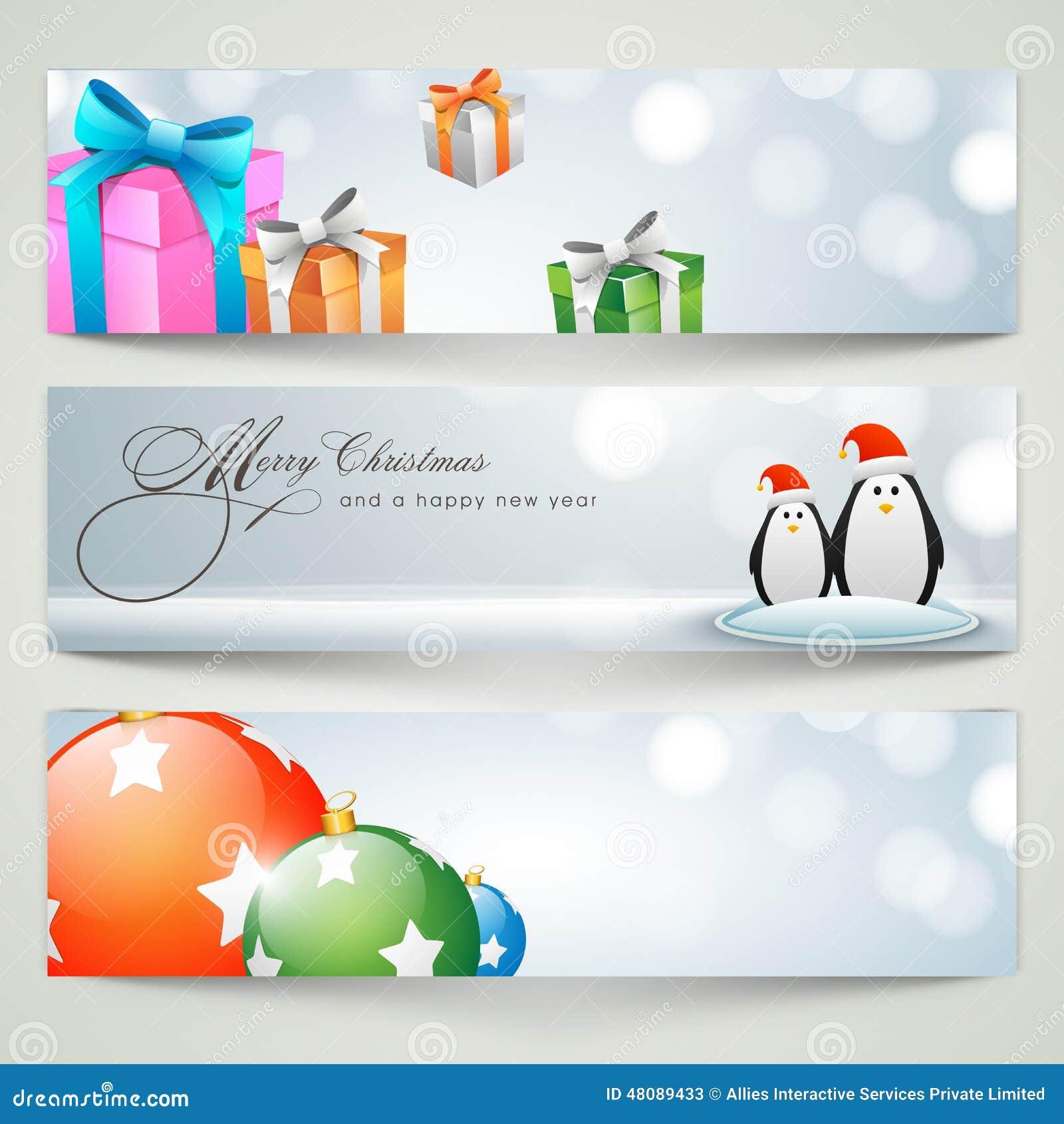 Banner Or Web Header Design For Merry Christmas Celebration. Stock ...