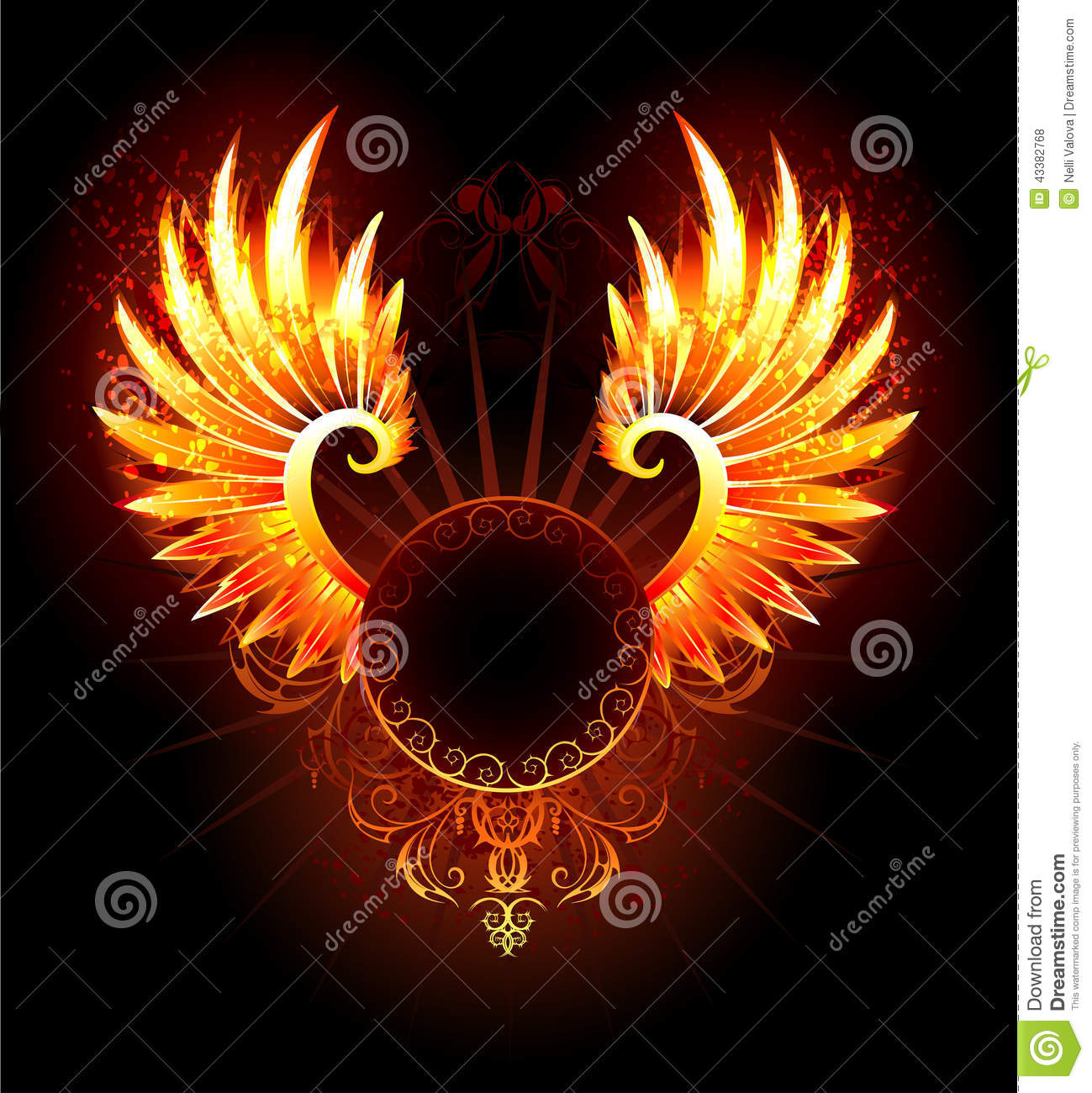 banner with wings phoenix stock vector image 43382768 steampunk clip art signs steampunk clipart images