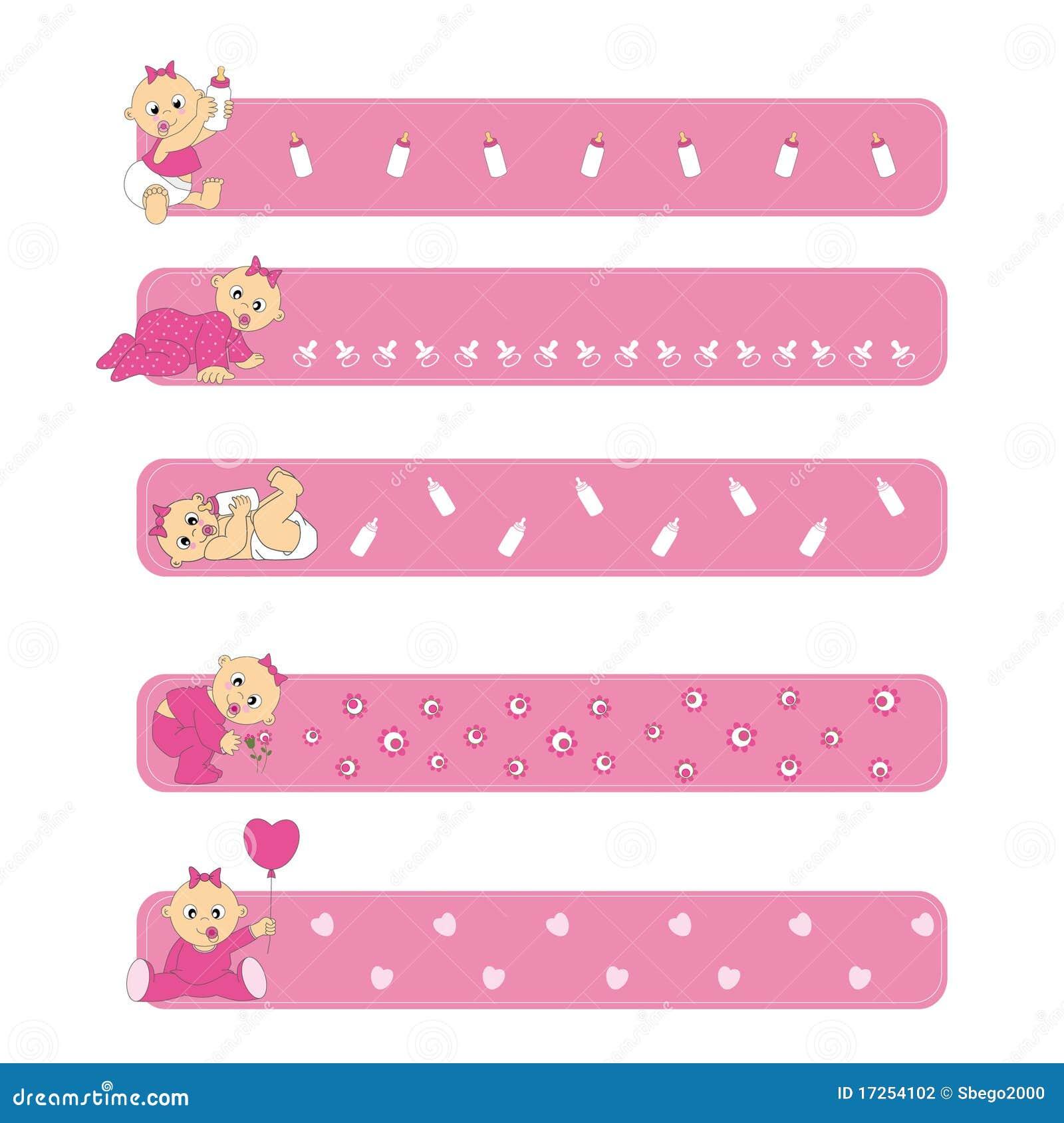 banners baby girl stock vector illustration of frame 17254102