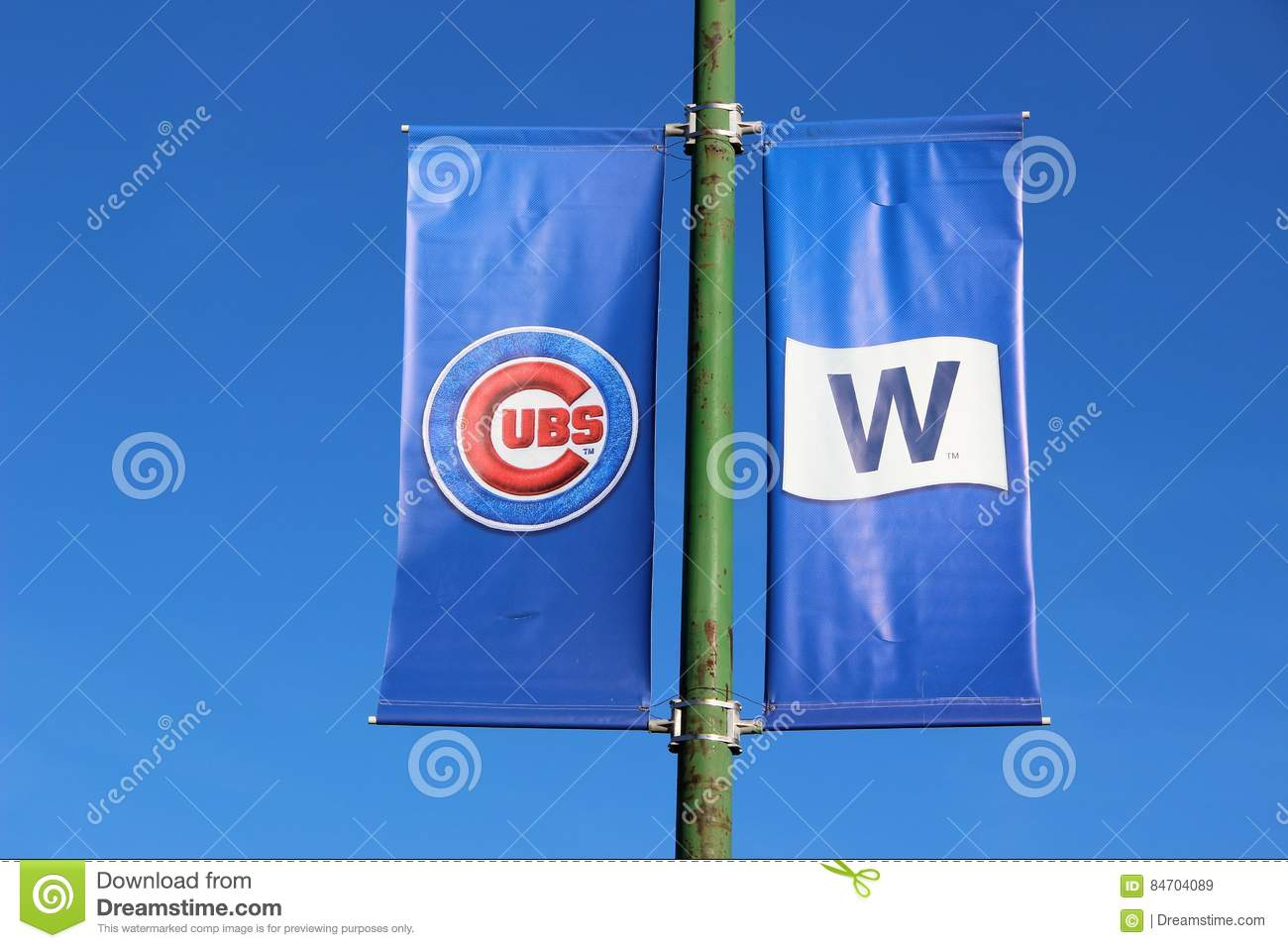Banners fly at wrigley field chicago after cubs world series win banners fly at wrigley field chicago after cubs world series win editorial stock photo buycottarizona Images