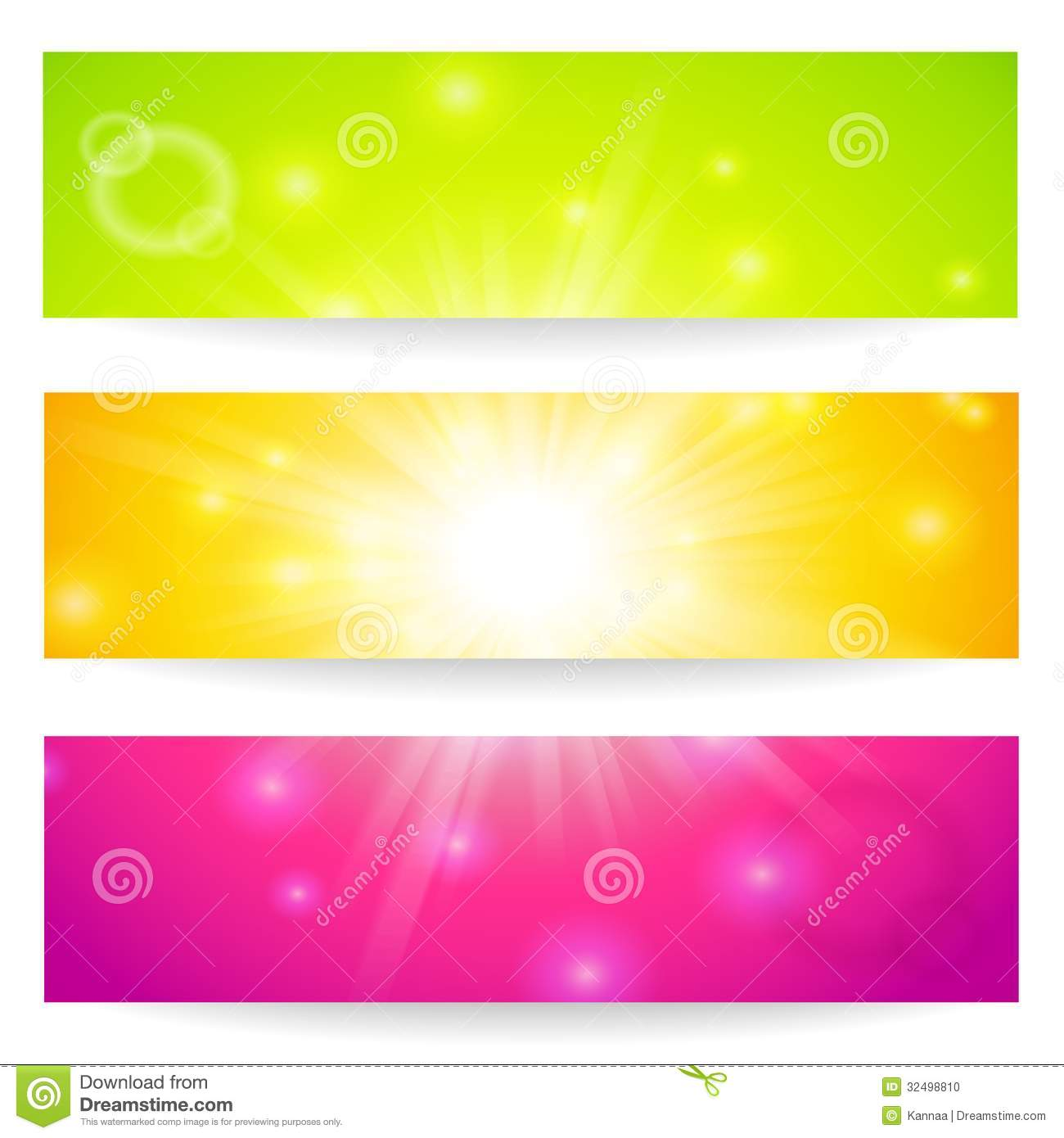 banners headers abstract lights stock vector illustration of
