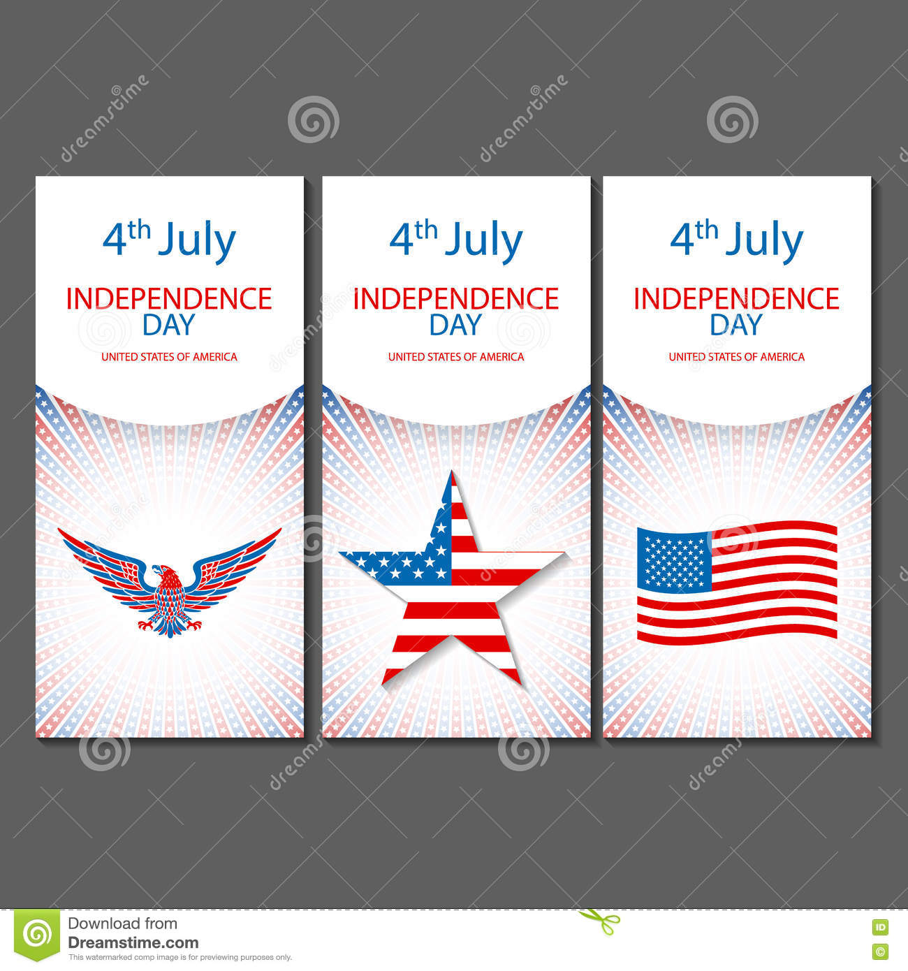 banners of 4th july backgrounds with american flag independence day hand drawn sketch design vector