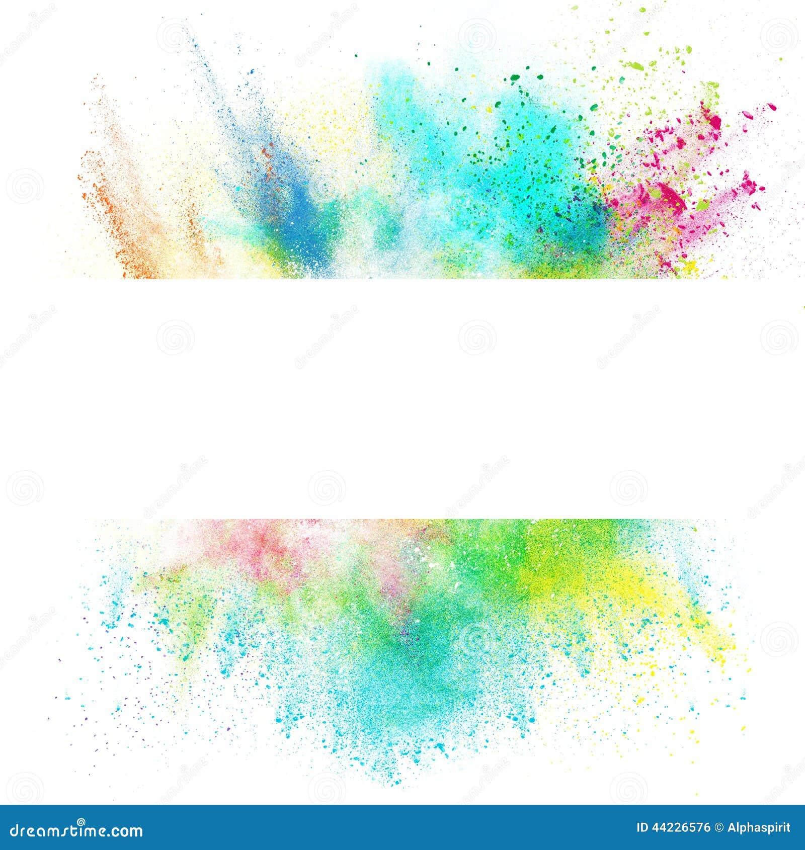 Souvent Bannière Fraîche Avec L'effet Coloré D'éclaboussure Illustration  NT01