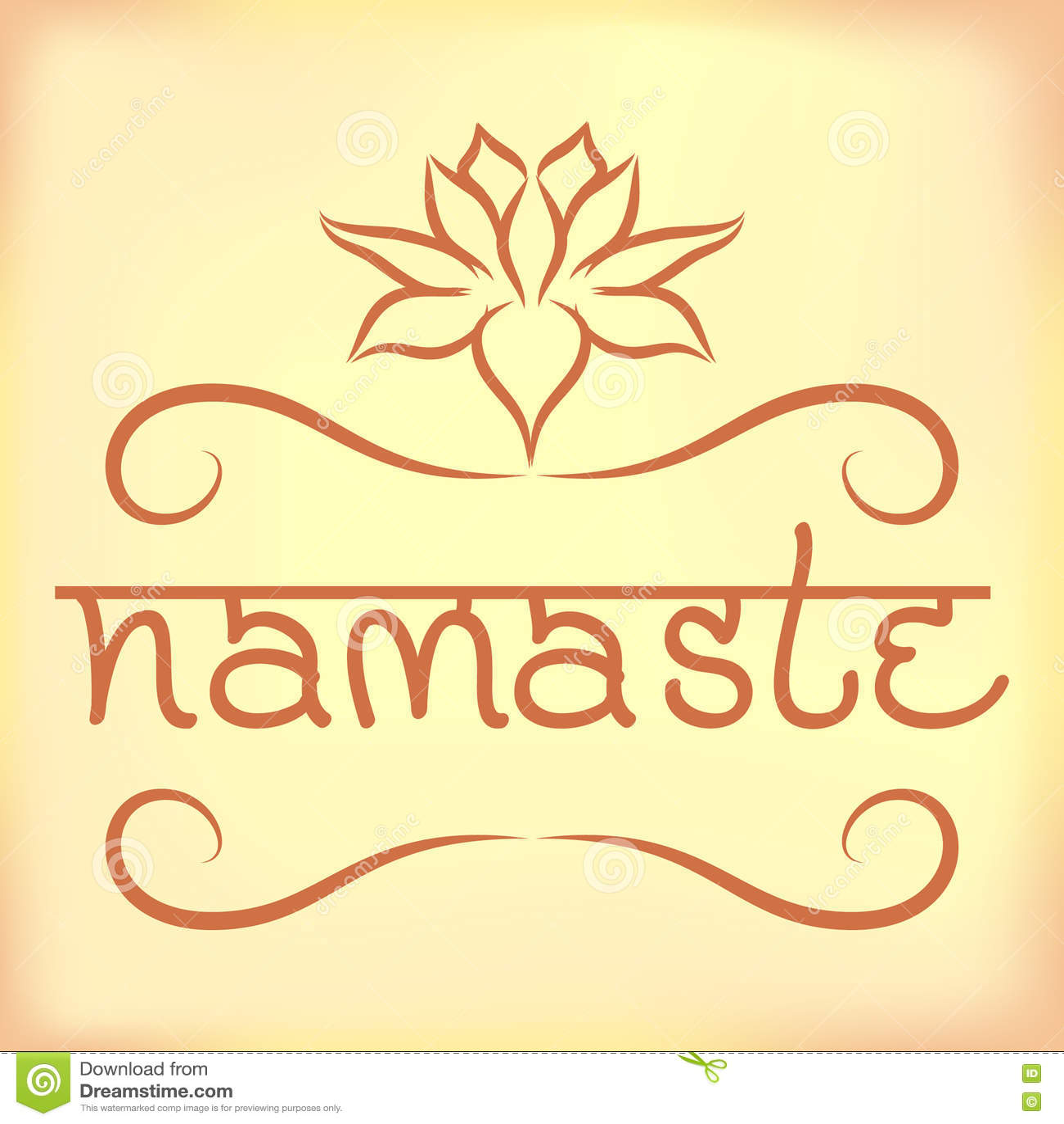 Top Bannière Indienne Namaste De Salutation Illustration de Vecteur  XF23