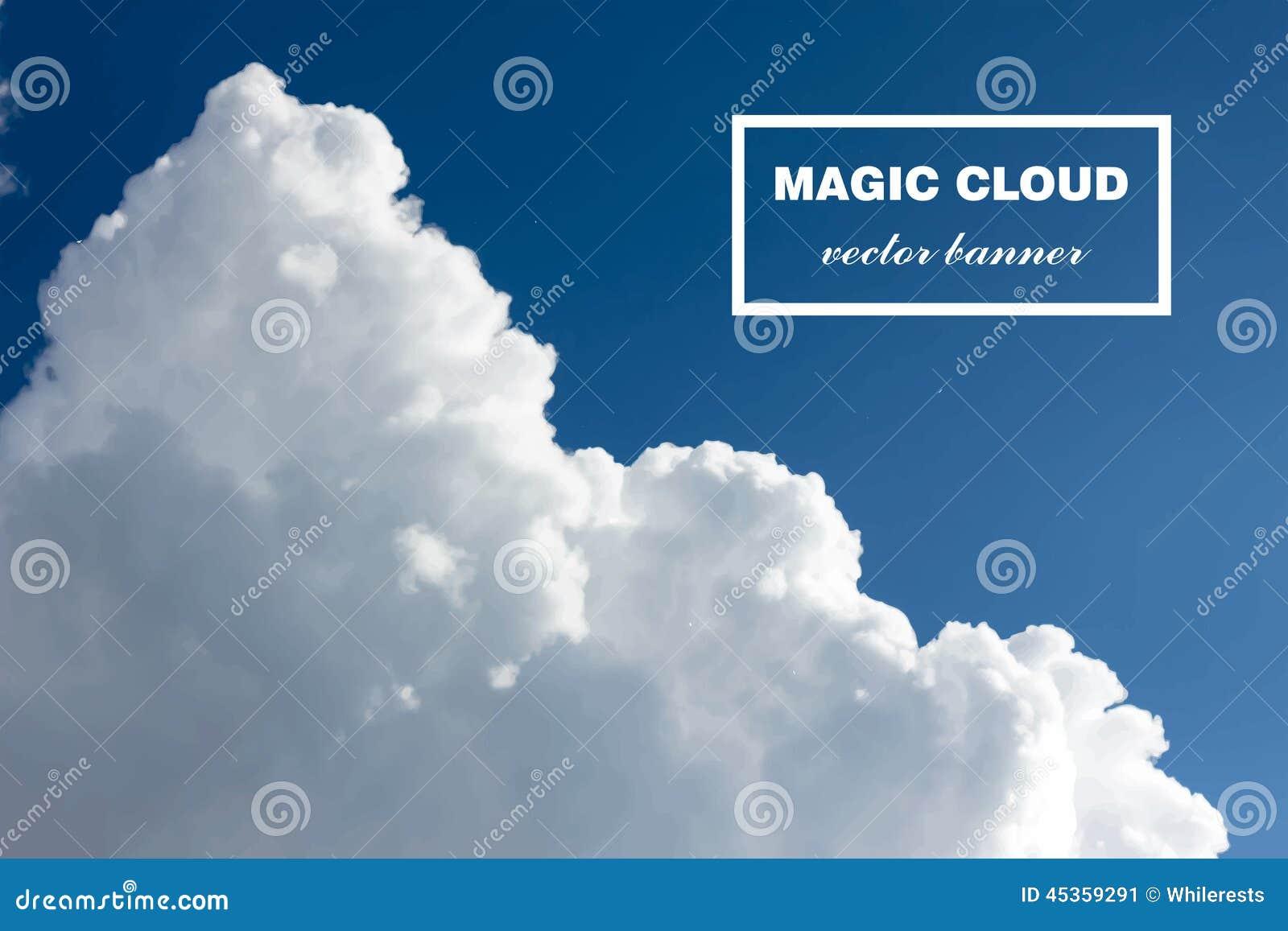 Bannière abstraite de nuage de vecteur