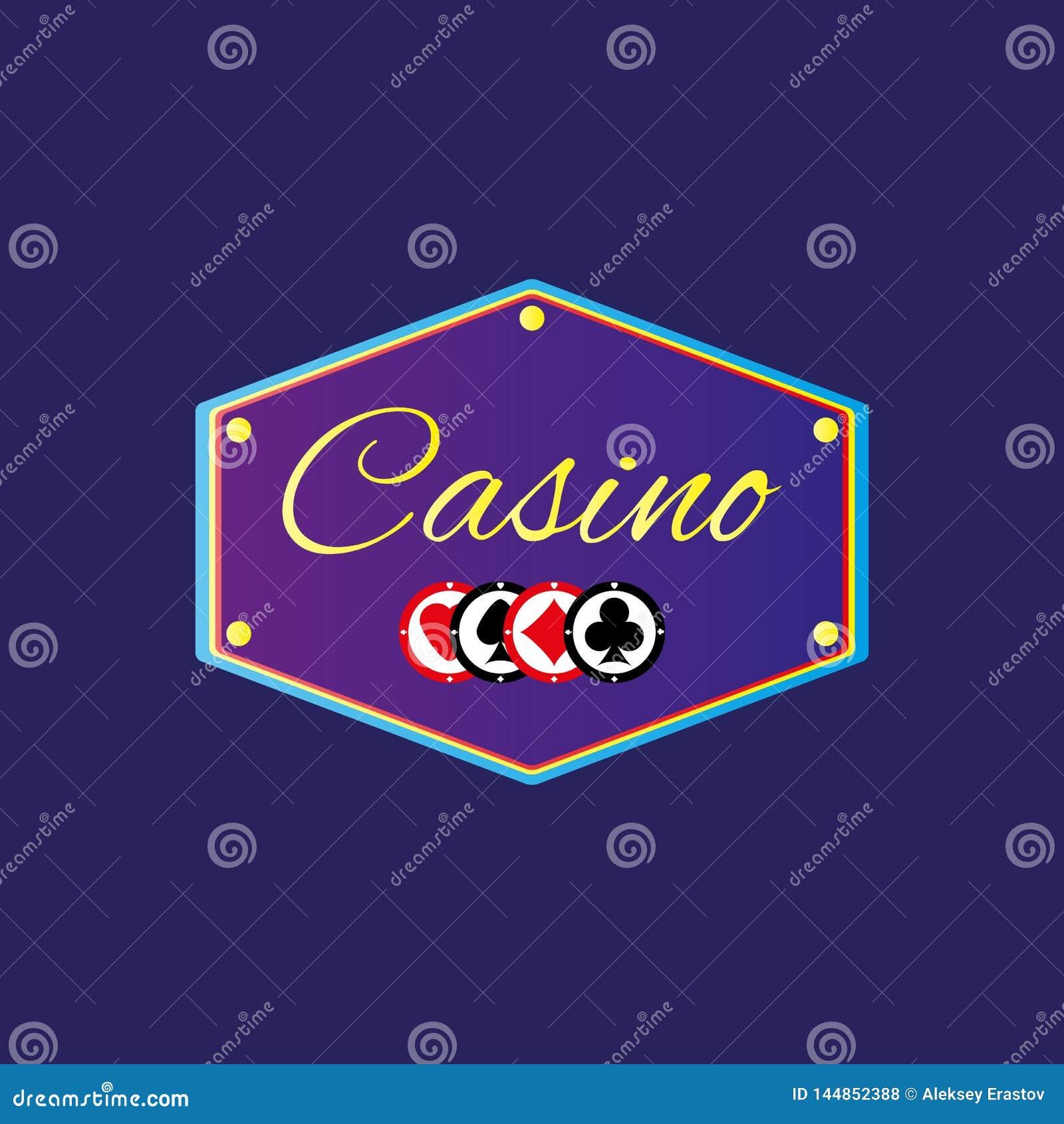 Banni?re avec le casino et les puces des textes Illustration de vecteur