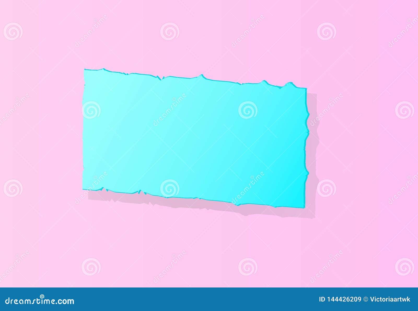Bannière bleu-clair sur un fond rose