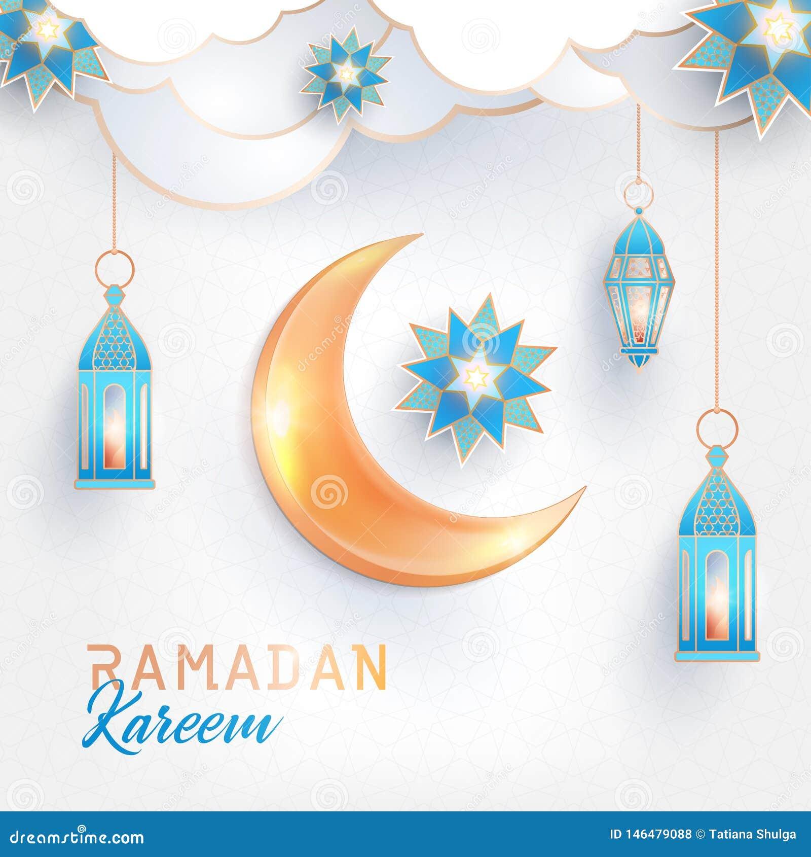 Bannière carrée de concept de Ramadan Kareem