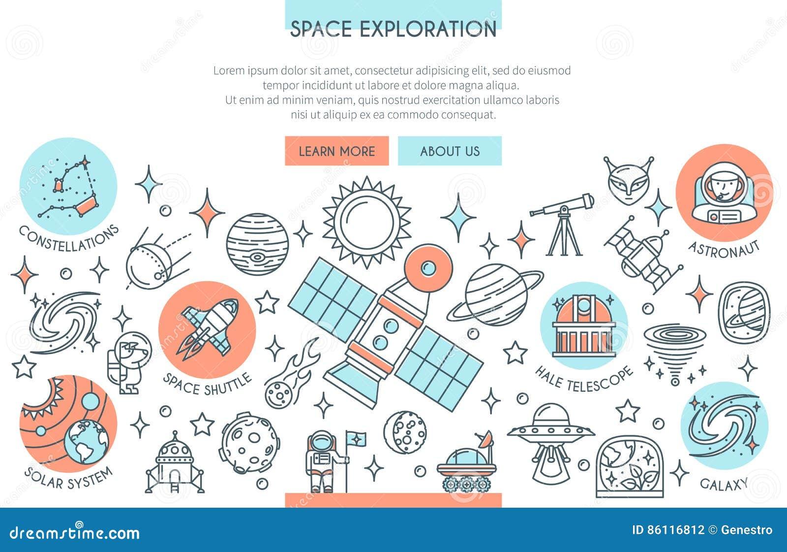 Bannière d exploration d espace