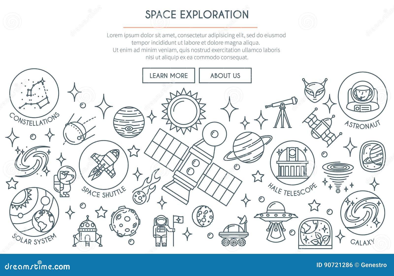 Bannière 2 d exploration d espace